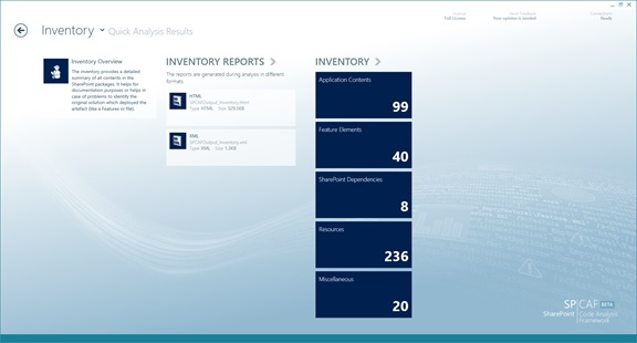 SPCAF code inventory reporting