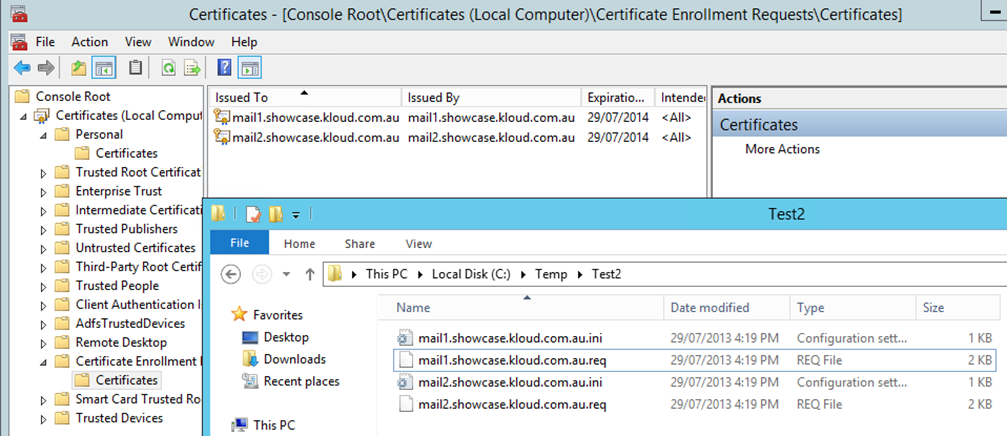 SSL SAN Certificate Request and Import from PowerShell | Kloud Blog