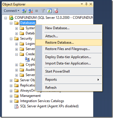 how to add a database to azure enterprise