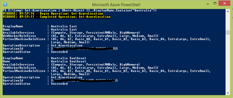 PowerShell Results Window