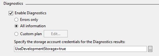 Instance Diagnostics Settings