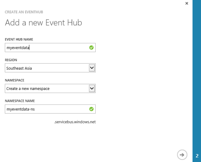 Creating an Azure Event Hub