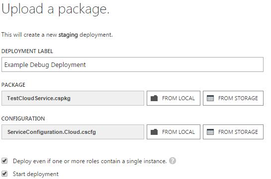 Upload Package