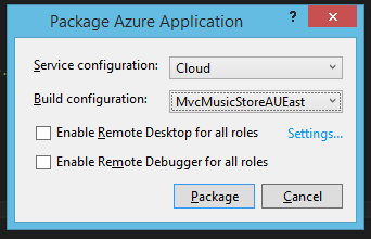 Package with config choice.