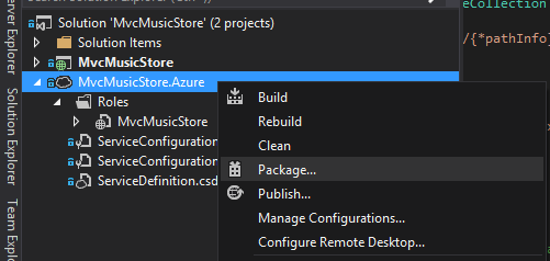 Package Azure Solution