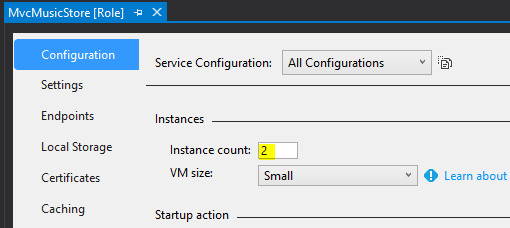 Set Azure Role Instance Count