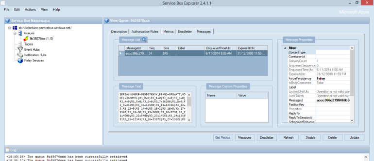 service bus explorer screenshot