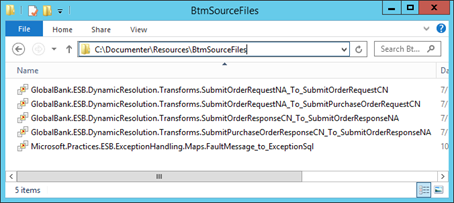BTM Source Files under the Resources folder