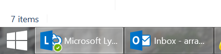 Old Lync Icon on Windows Taskbar