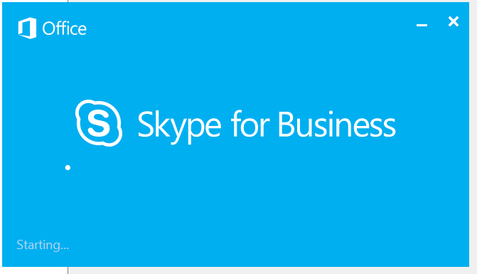 Skype for Business Splash Screen