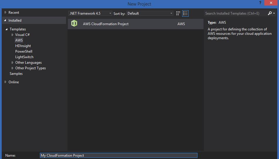 Create AWS CloudFormation Templates with Visual Studio | Kloud Blog