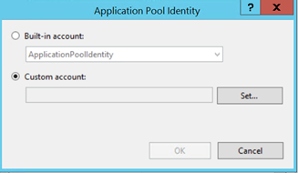Changing App Pool Identity