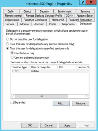 Service Account Delegation