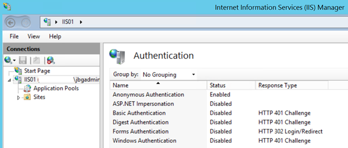 IIS Manager Authentication