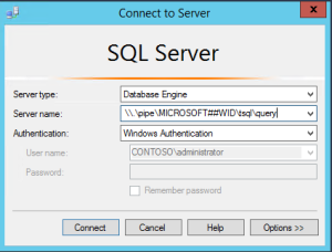SSMS connect dialog