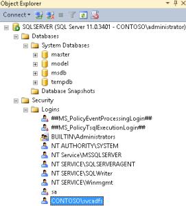 Adding SQL Server user