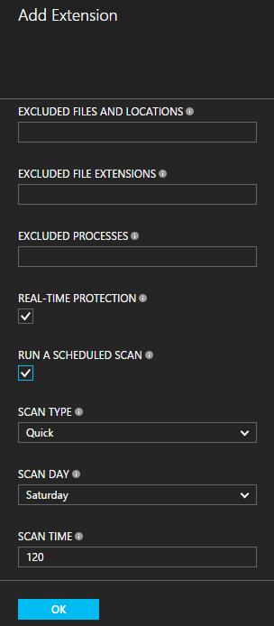 Configure Antimalware