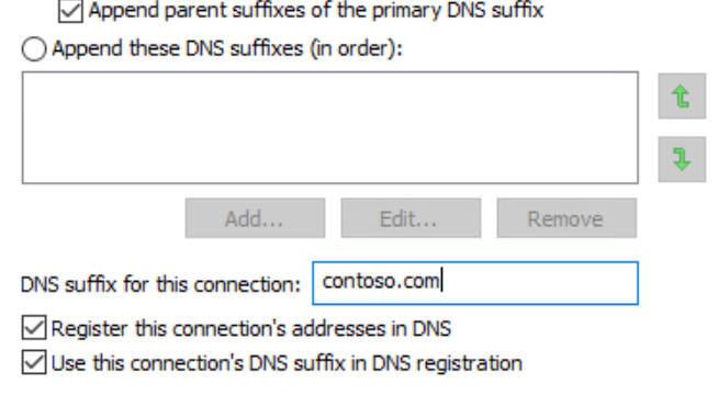 how to change dns suffix