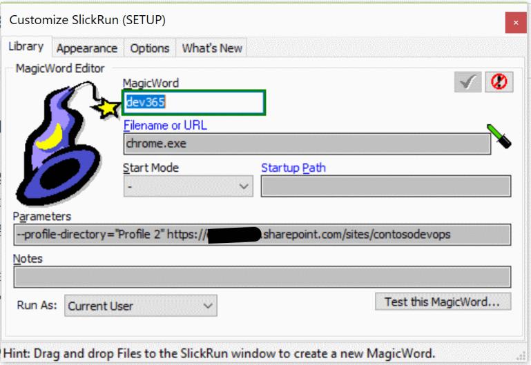 SlickRun-MagicWord