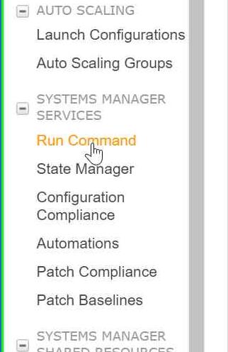 click on Run command