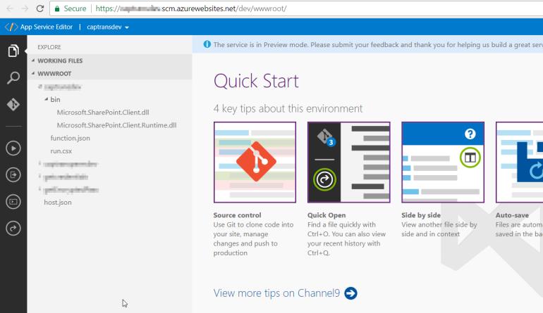 Create Lib App Service Editor